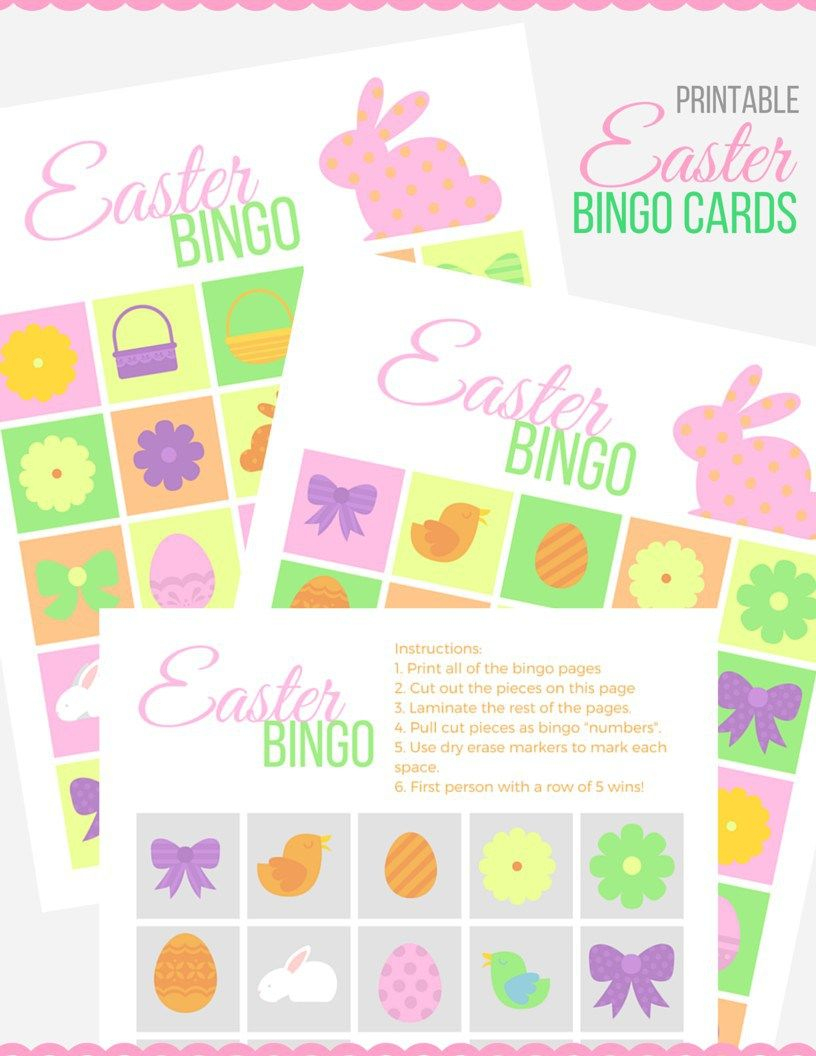 Easter Bingo Cards - Keep The Kids Busy With These Free Printable - Free Printable Religious Easter Bingo Cards