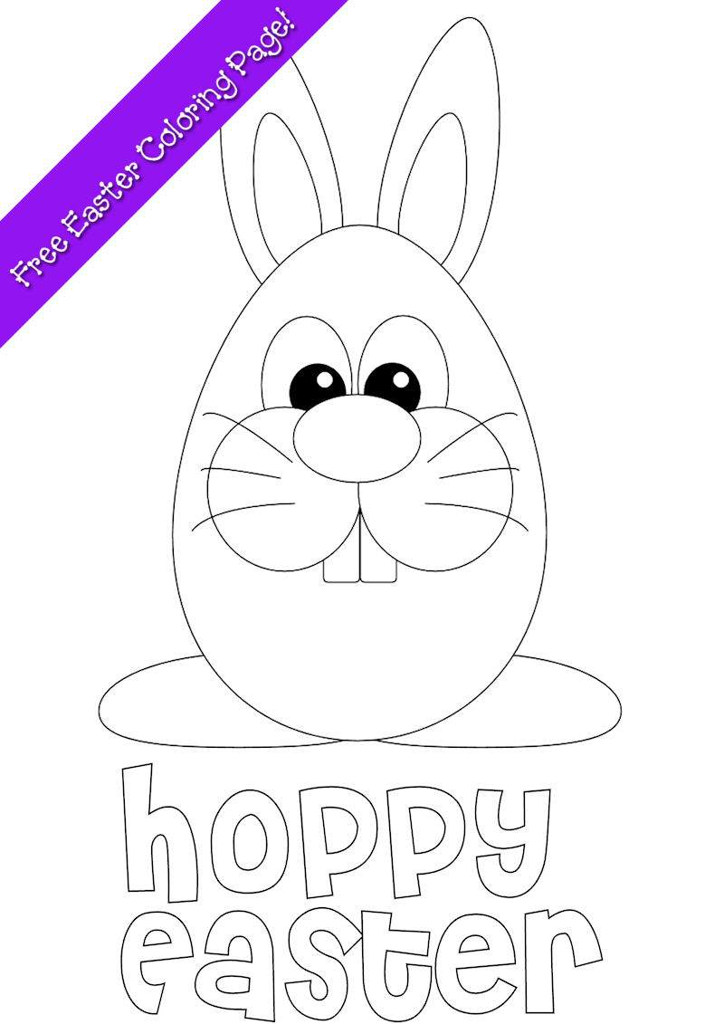Easter Bunny Coloring Page - Free Printable - Free Printable Easter Pages