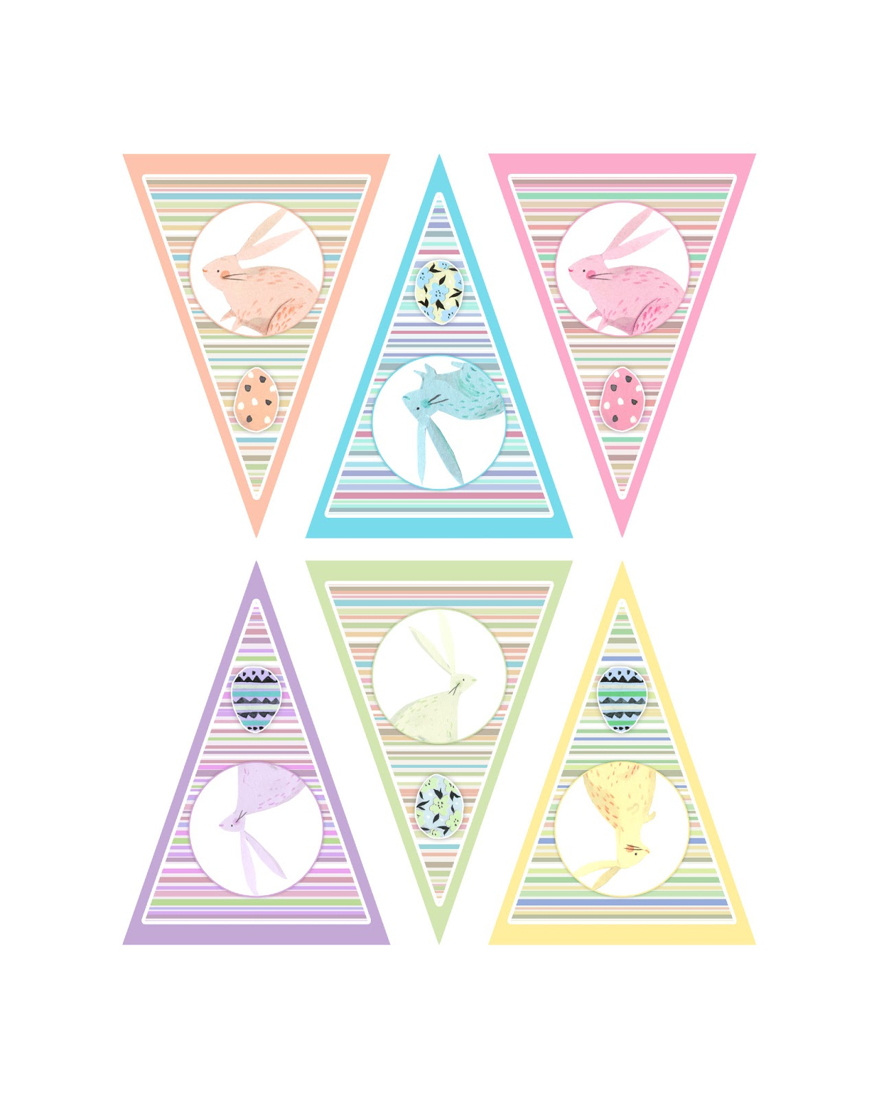 Easter Bunting Printable – Hd Easter Images - Free Printable Easter Bunting