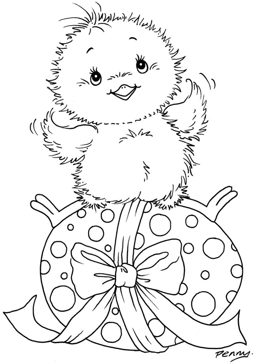 Easter Coloring Pages - Baby Chick | Kids Zone - Holiday Coloring - Free Printable Easter Baby Chick Coloring Pages