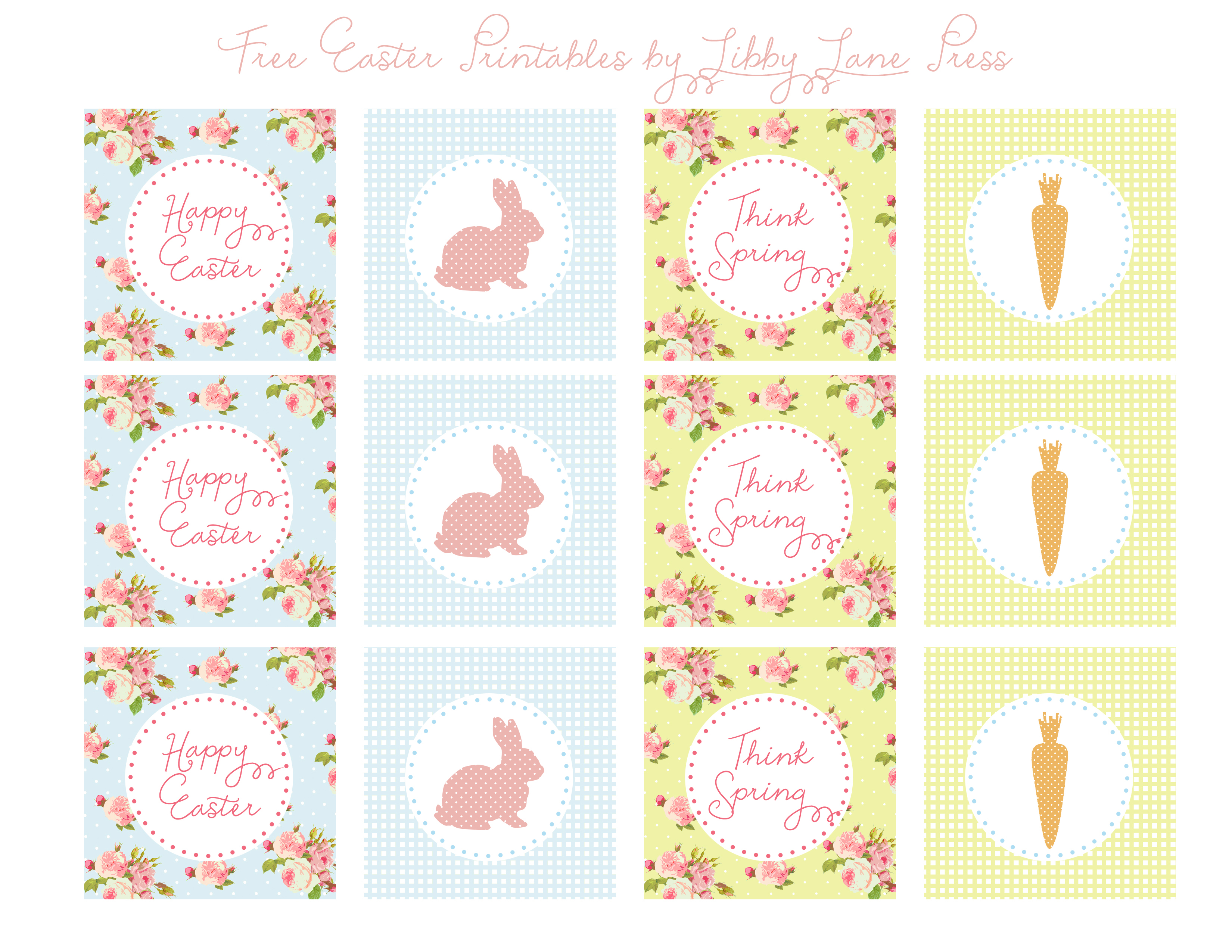 Easter Free Printables-Party Circles   The Party Teacher - Free Printable Party Circles