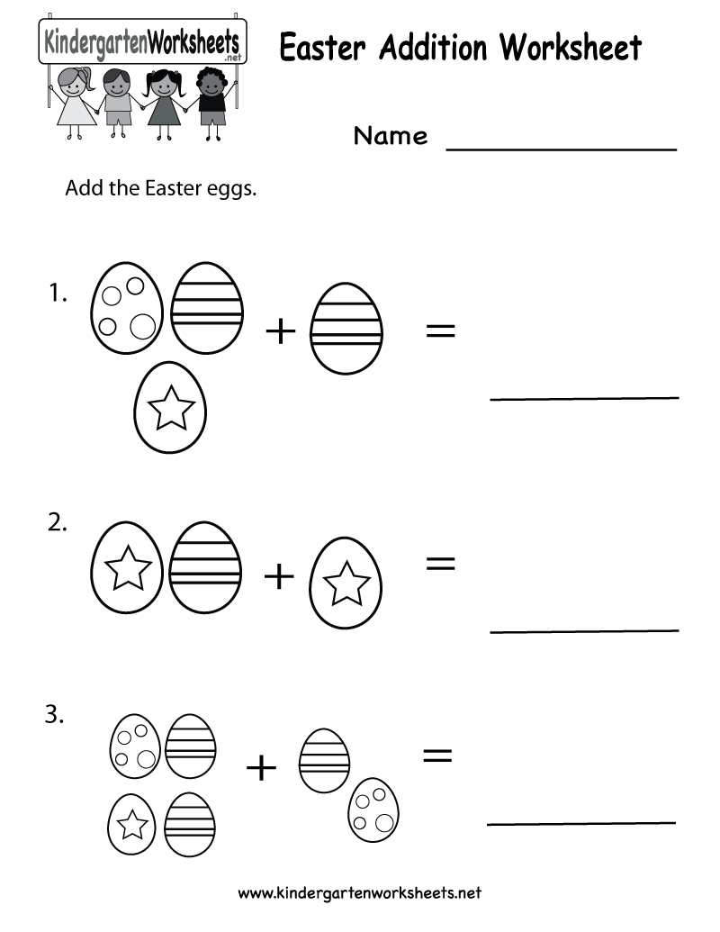 Easter Printables | Kindergarten Easter Addition Worksheet Printable - Free Printable Easter Worksheets For 3Rd Grade