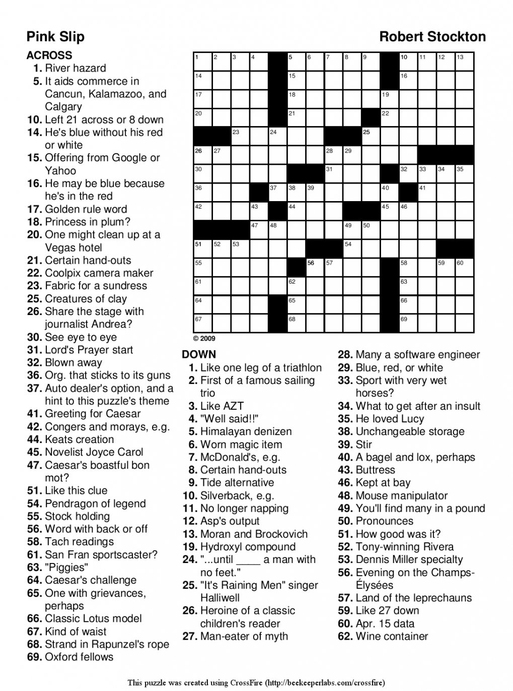 Easy Printable Crossword Puzzles For Kids | Penaime - Free Easy Printable Crossword Puzzles For Kids