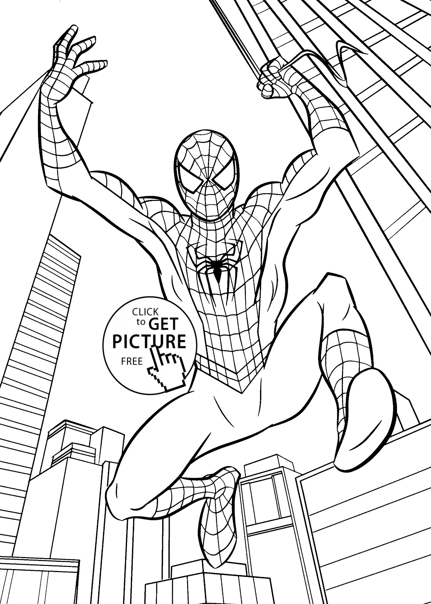 Easy Spiderman Pictures To Draw Free Printable Spiderman Coloring - Free Printable Spiderman Coloring Pages