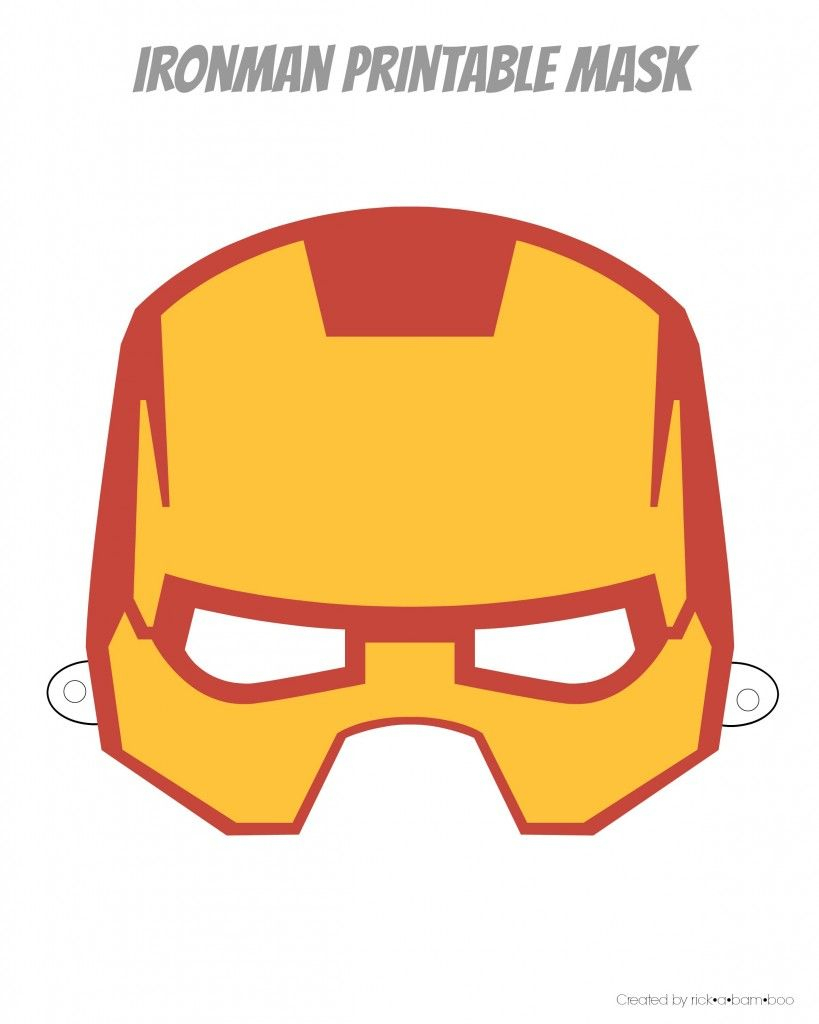 Easy Superhero Mask Template (Free!!) | Halloween Crafts | Pinterest - Free Printable Ironman Mask