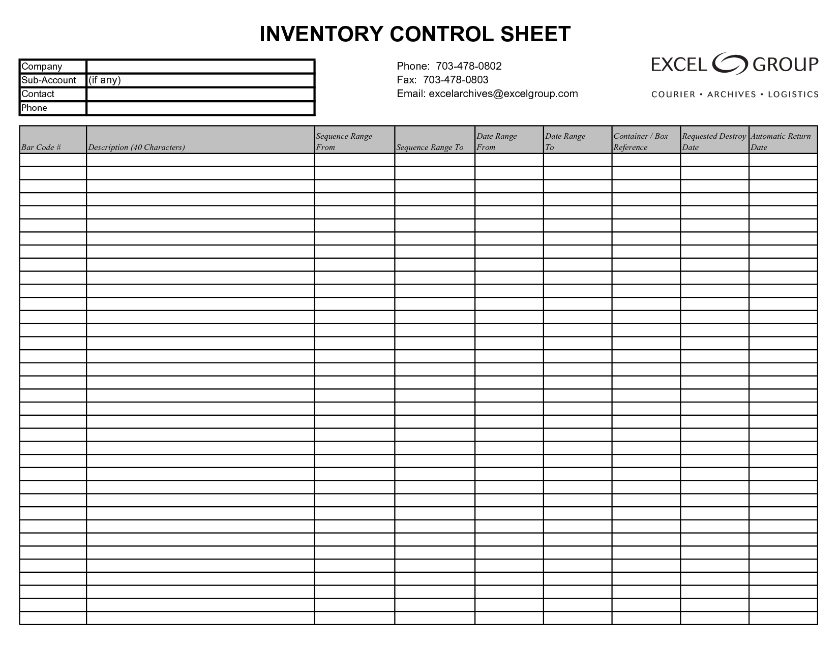 Easy To Use Inventory Tracking Templates For Your Business : Violeet - Free Printable Inventory Sheets Business