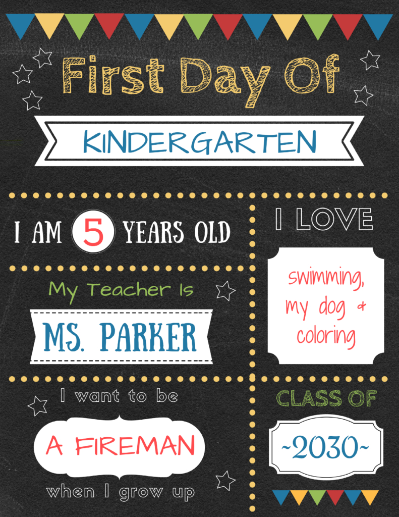 Editable First Day Of School Signs To Edit And Download For Free - Free Printable First Day Of School Signs 2017