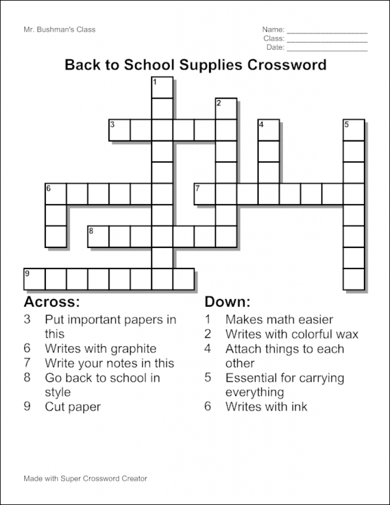 Edubakery - About Super Crossword Creator Inside Free Make Your Own - Free Make Your Own Crosswords Printable