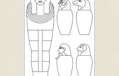 Egyptian Sarcophagus And Canopic Jars Colouring Sheet – Cleverpatch – Free Printable Sarcophagus