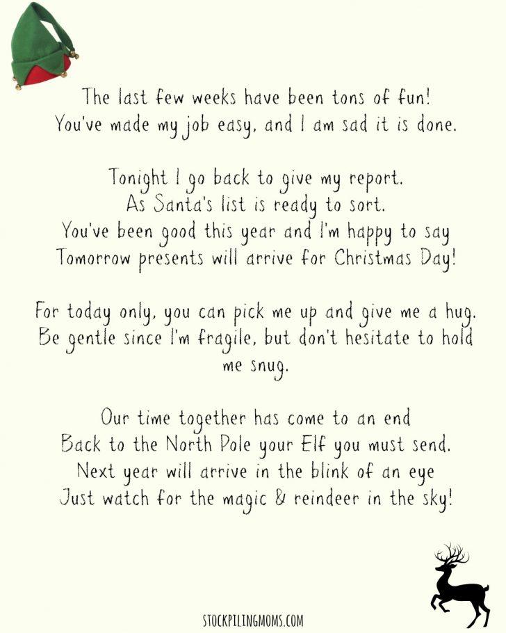 Elf On A Shelf Goodbye Letter Free Printable