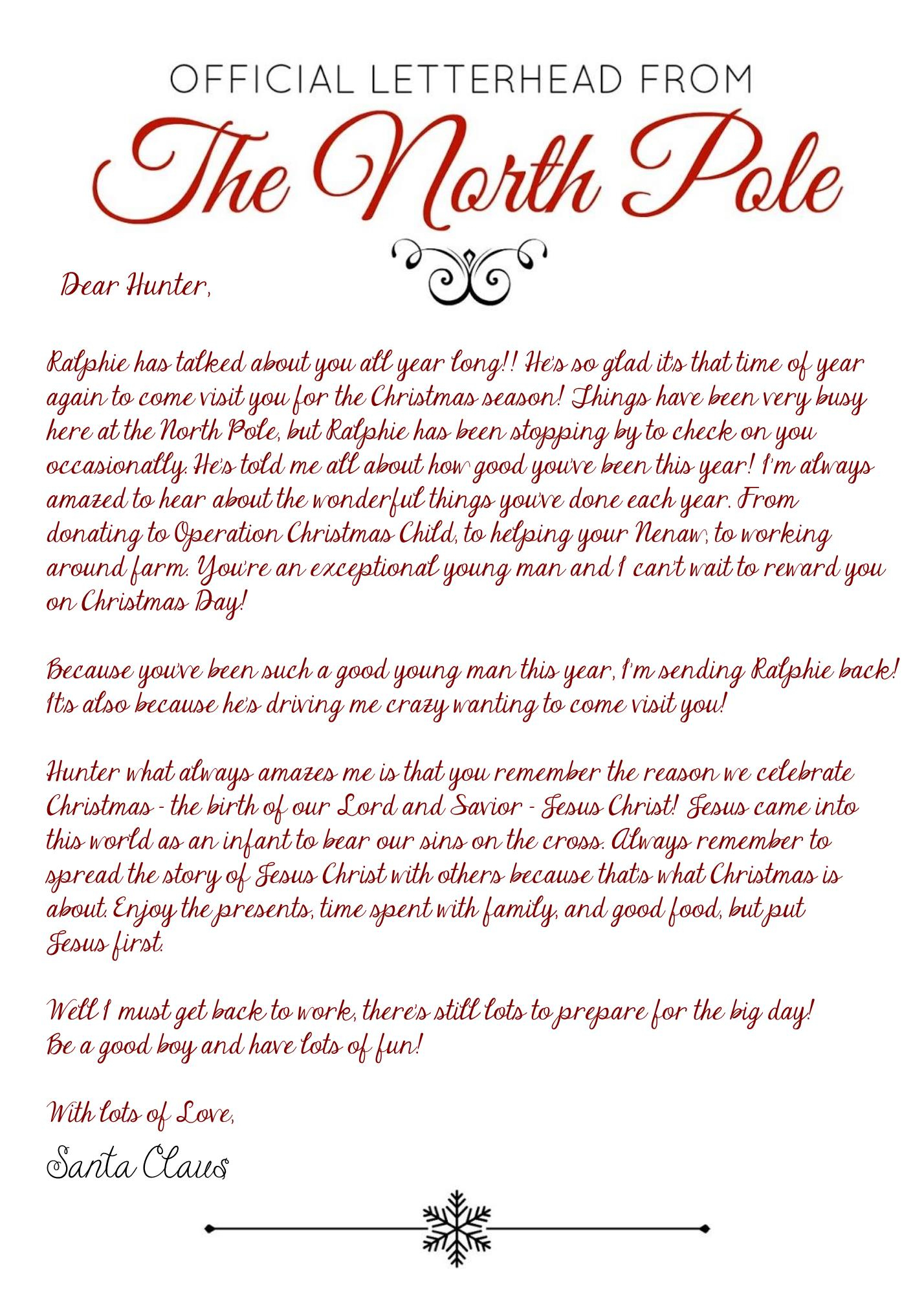 Elf On The Shelf Arrival Letter - Jesus Version - 2017 - Free - Free Printable Elf On The Shelf Story