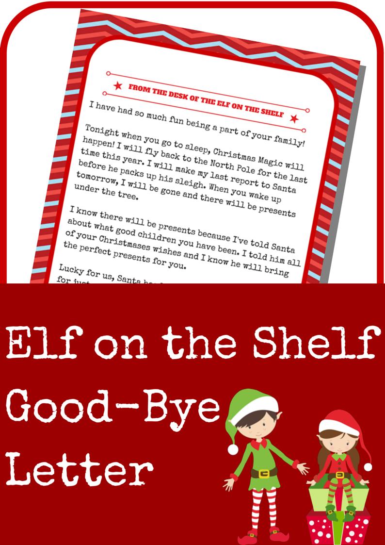 Elf On The Shelf Good-Bye Letter   Elf On The Shelf Ideas   Elf On - Elf On A Shelf Goodbye Letter Free Printable