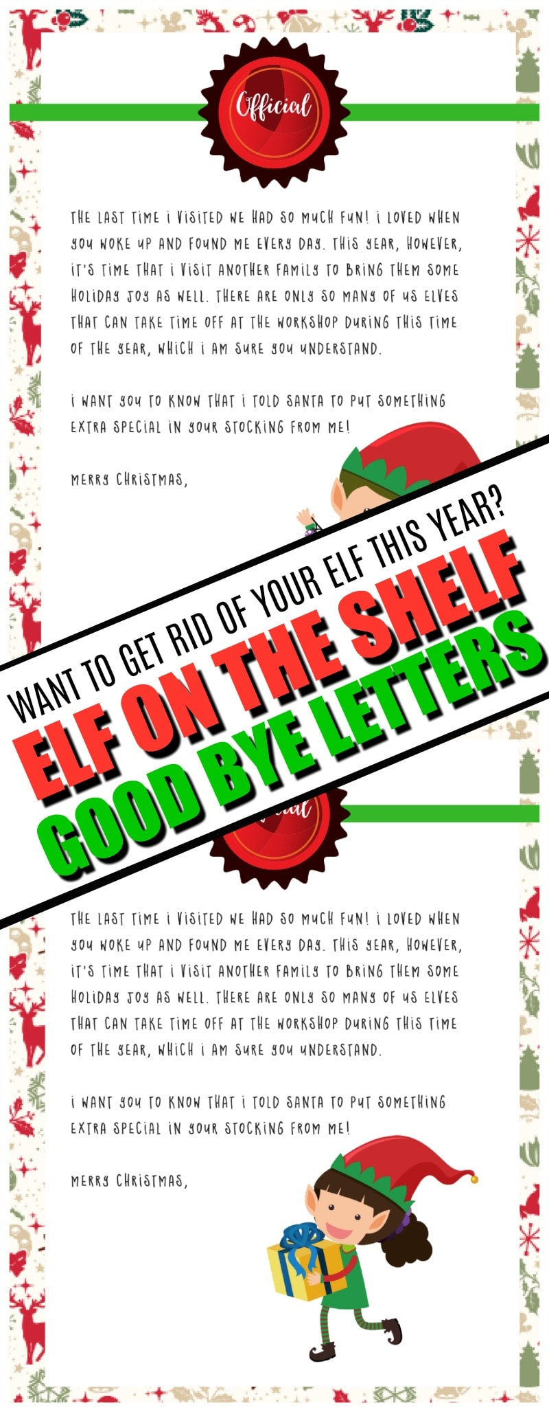 Elf On The Shelf Goodbye Letter : Free Printable - - Elf On A Shelf Goodbye Letter Free Printable