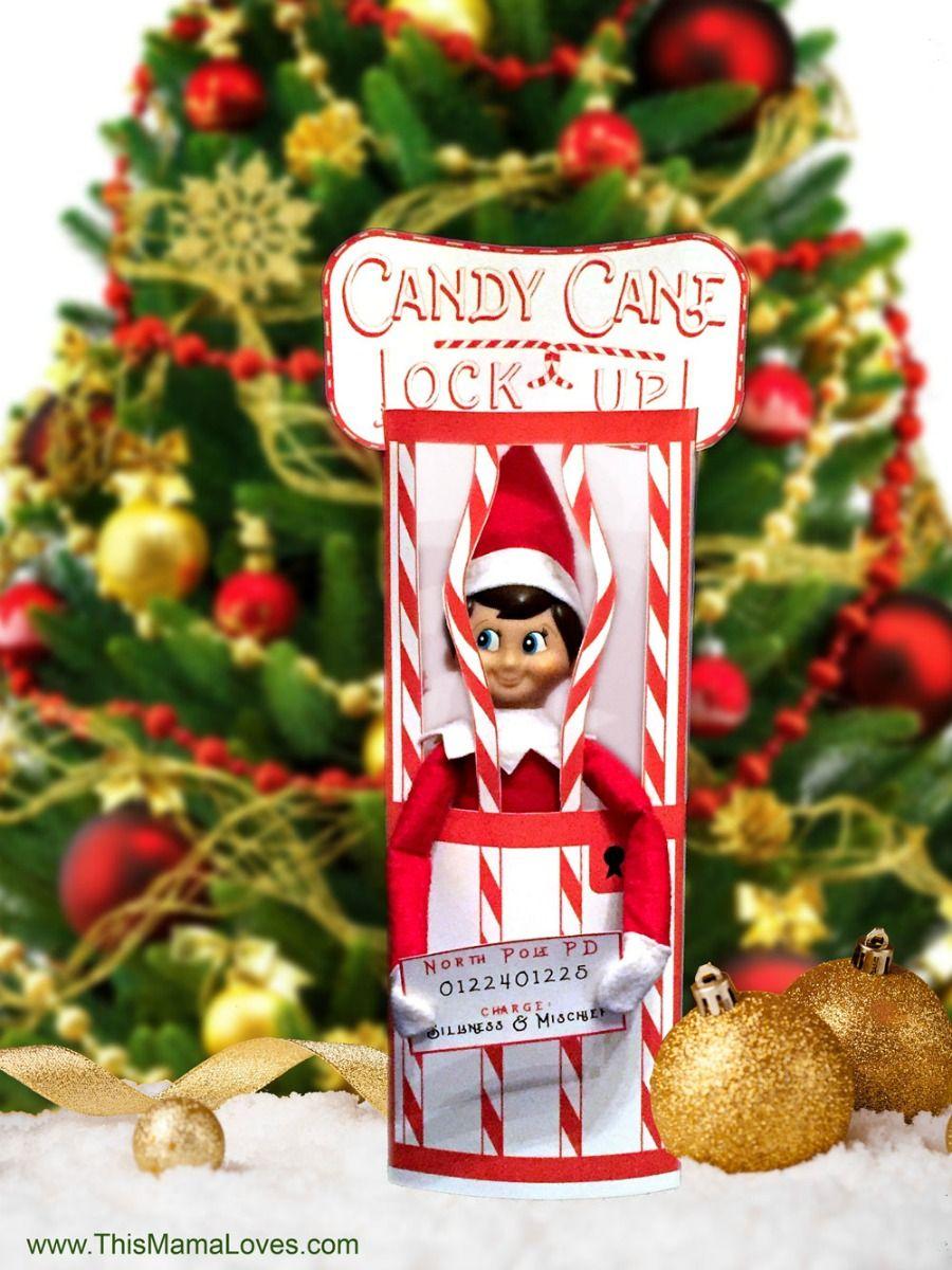 Elf On The Shelf Idea: Candy Cane Jail   Christmas   Pinterest   Elf - Elf On The Shelf Kissing Booth Free Printable