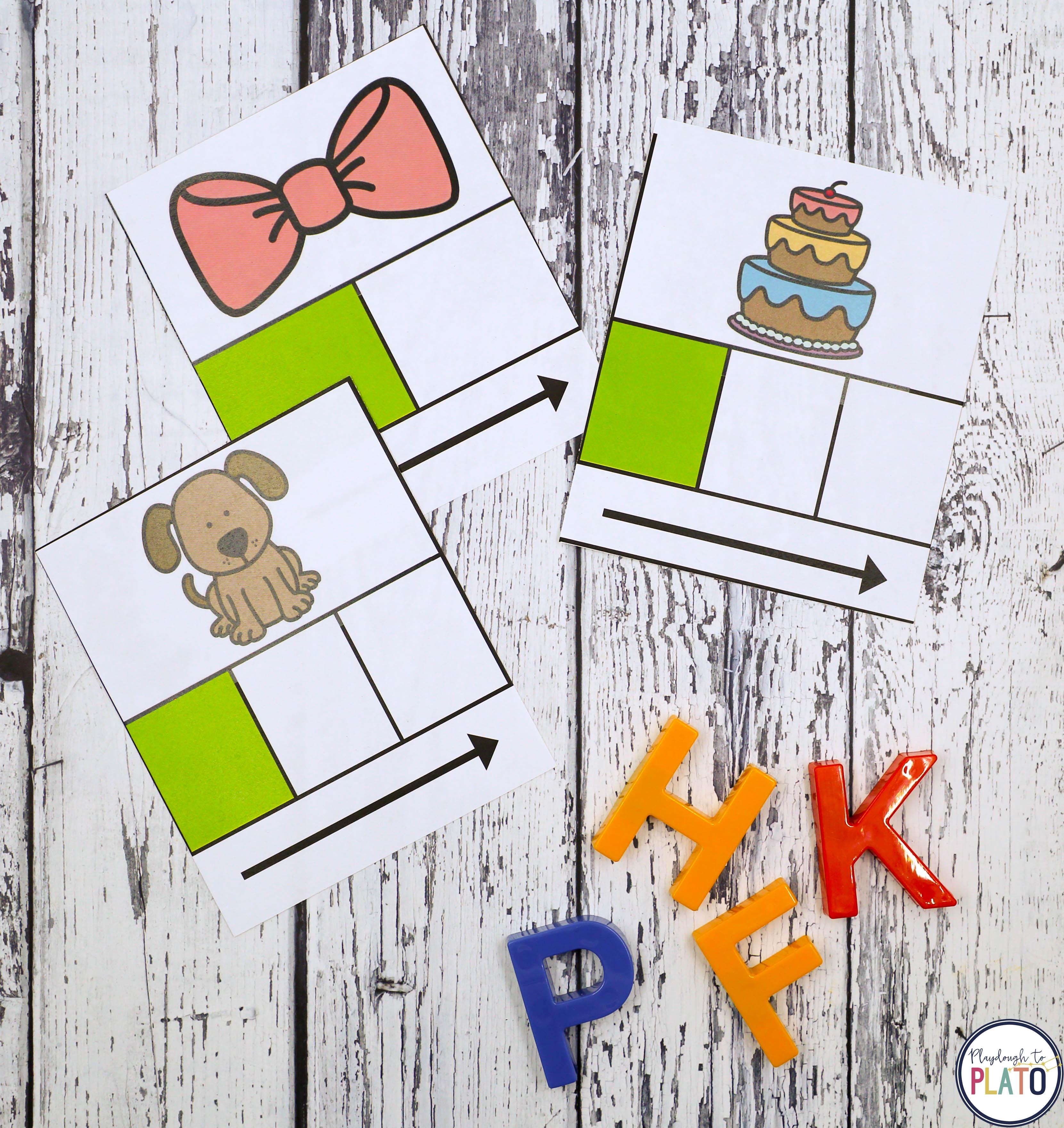 Elkonin Sound Boxes - Playdough To Plato - Free Printable Elkonin Boxes