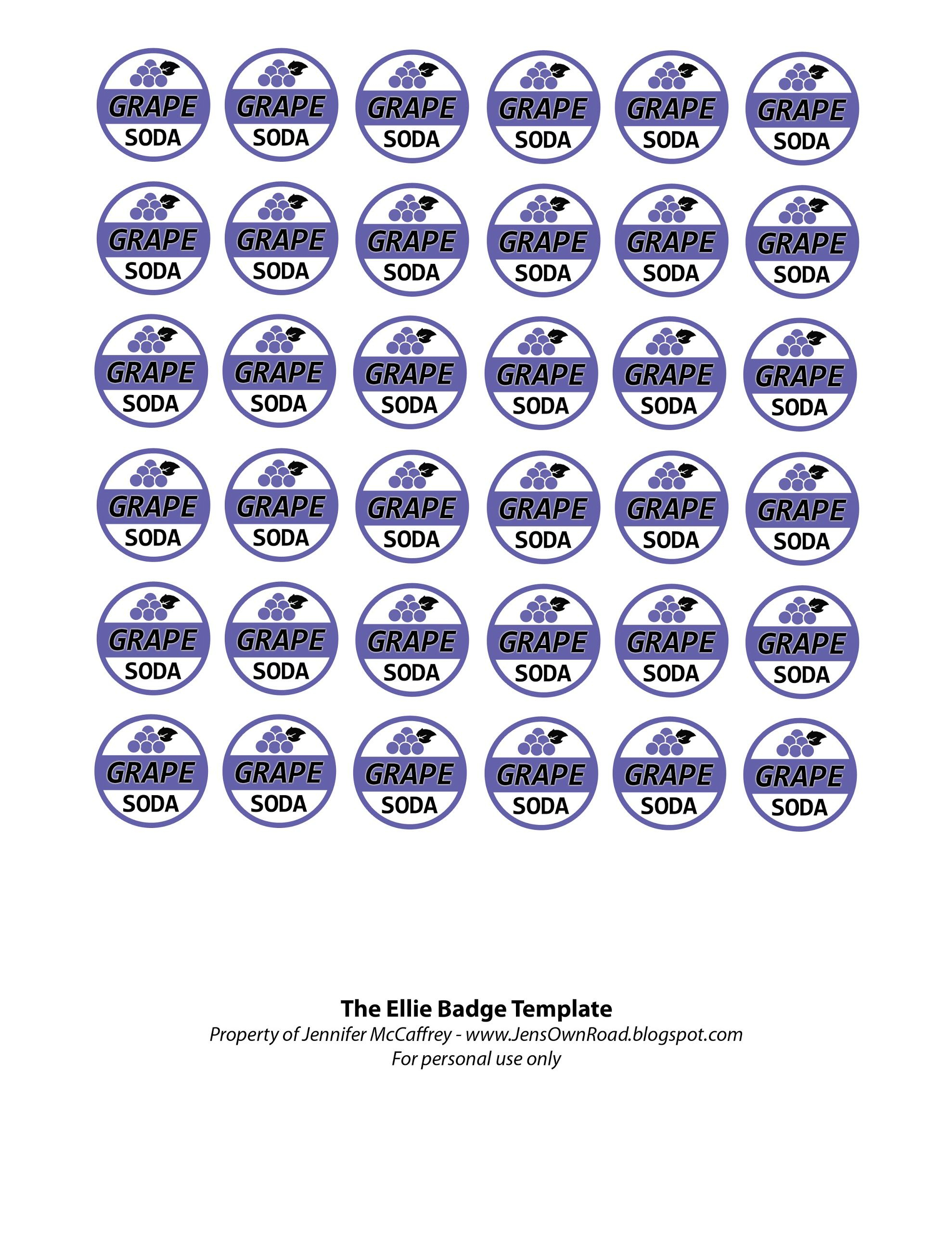 Ellie Badge Free Printable. These Would Make Great Charms For Party - Free Printable Badges