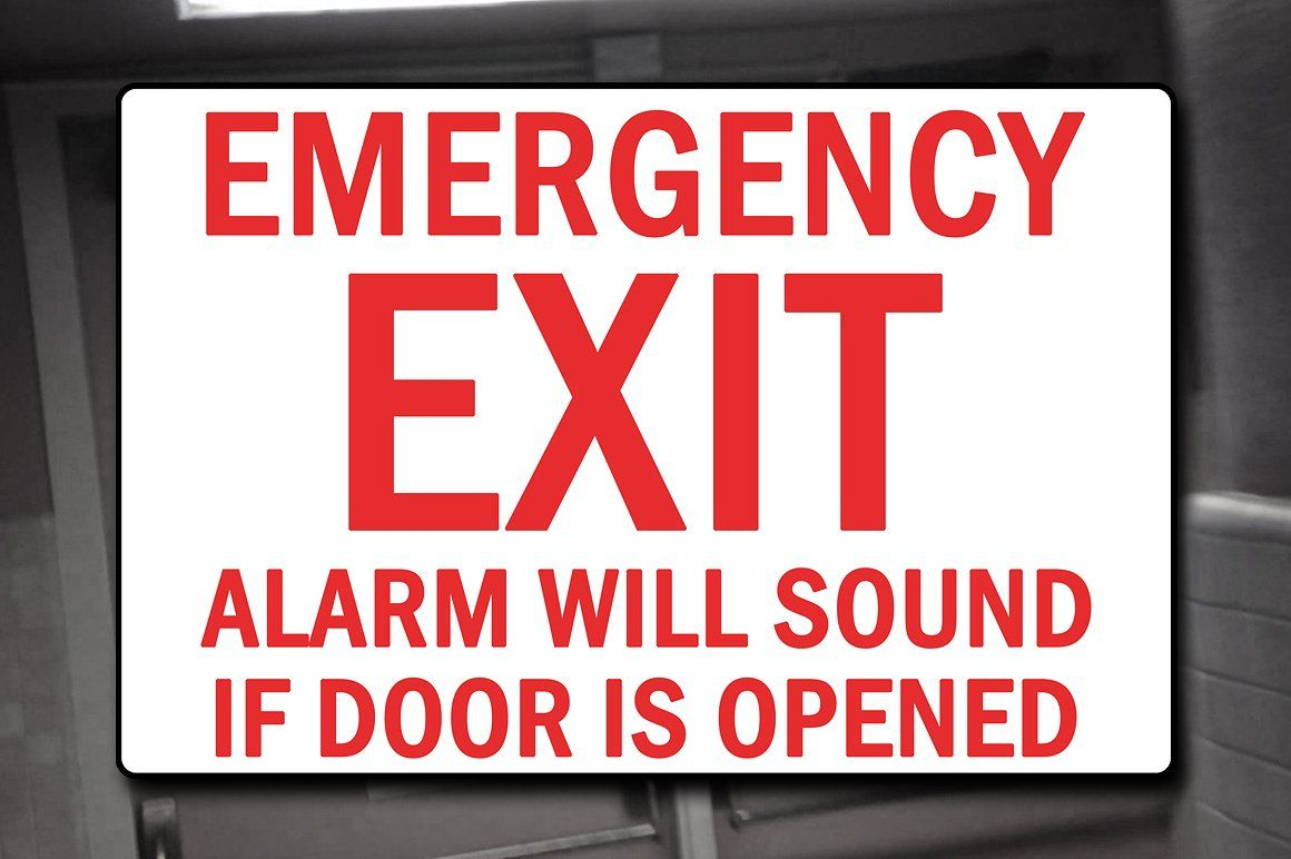 Emergency Exit Sign Decal #exit#alarm#emergency#wall | Apple Game - Free Printable Exit Signs