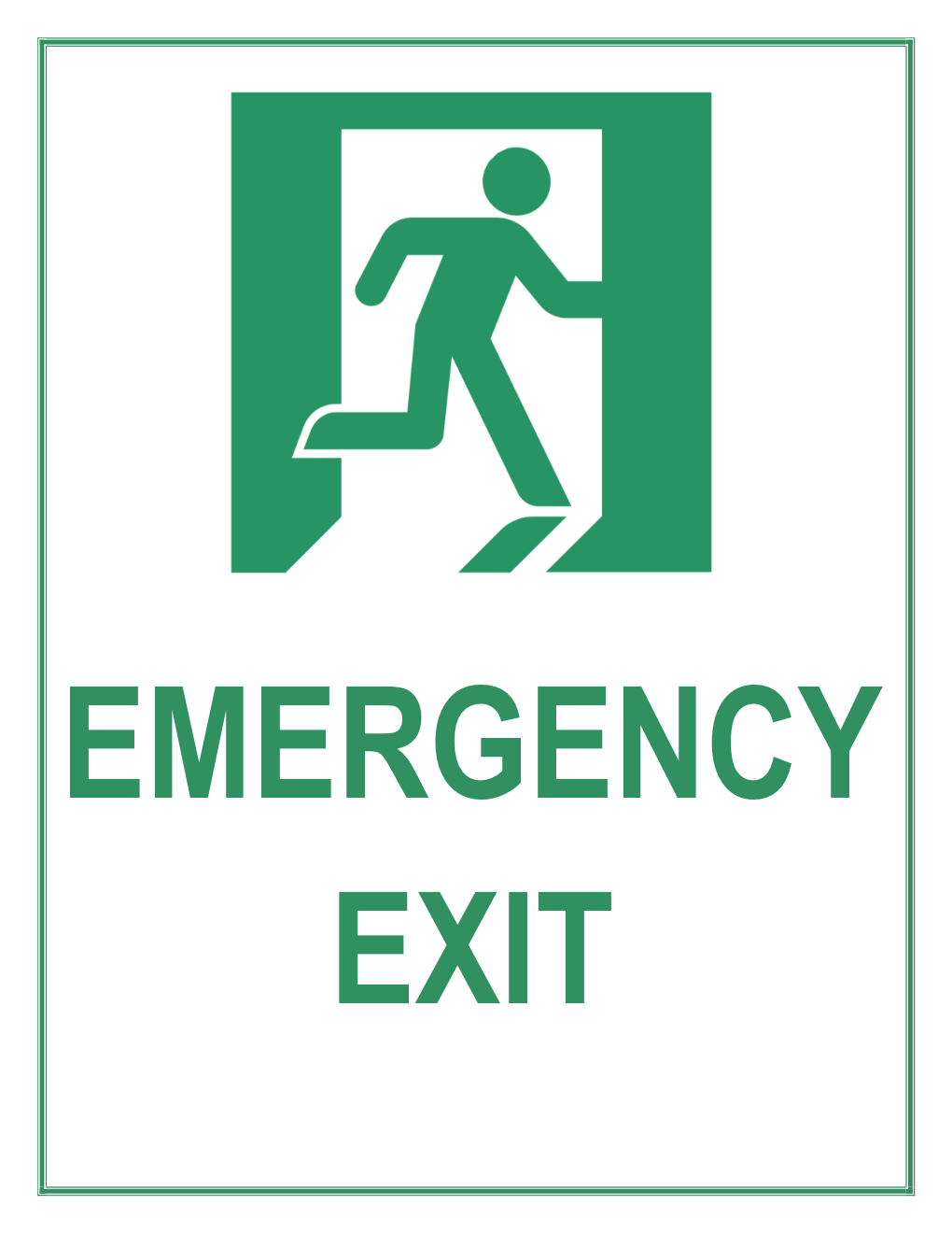 Emergency Exit Sign - Free Printable Exit Signs