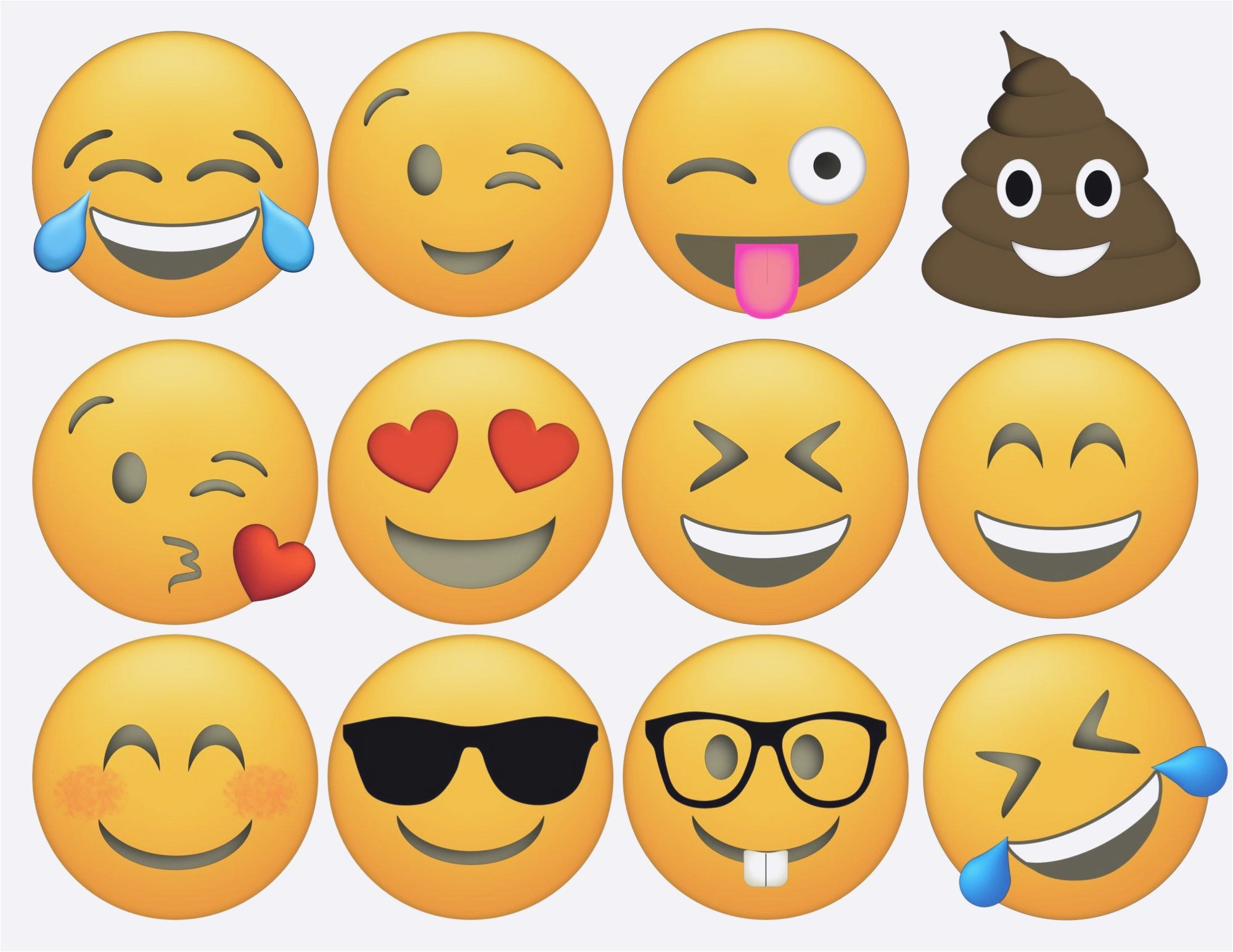 Emoji Anniversaire | Joyeux Anniversaire - Free Printable Emoji Faces