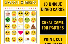 Free Emoji Bingo Printable