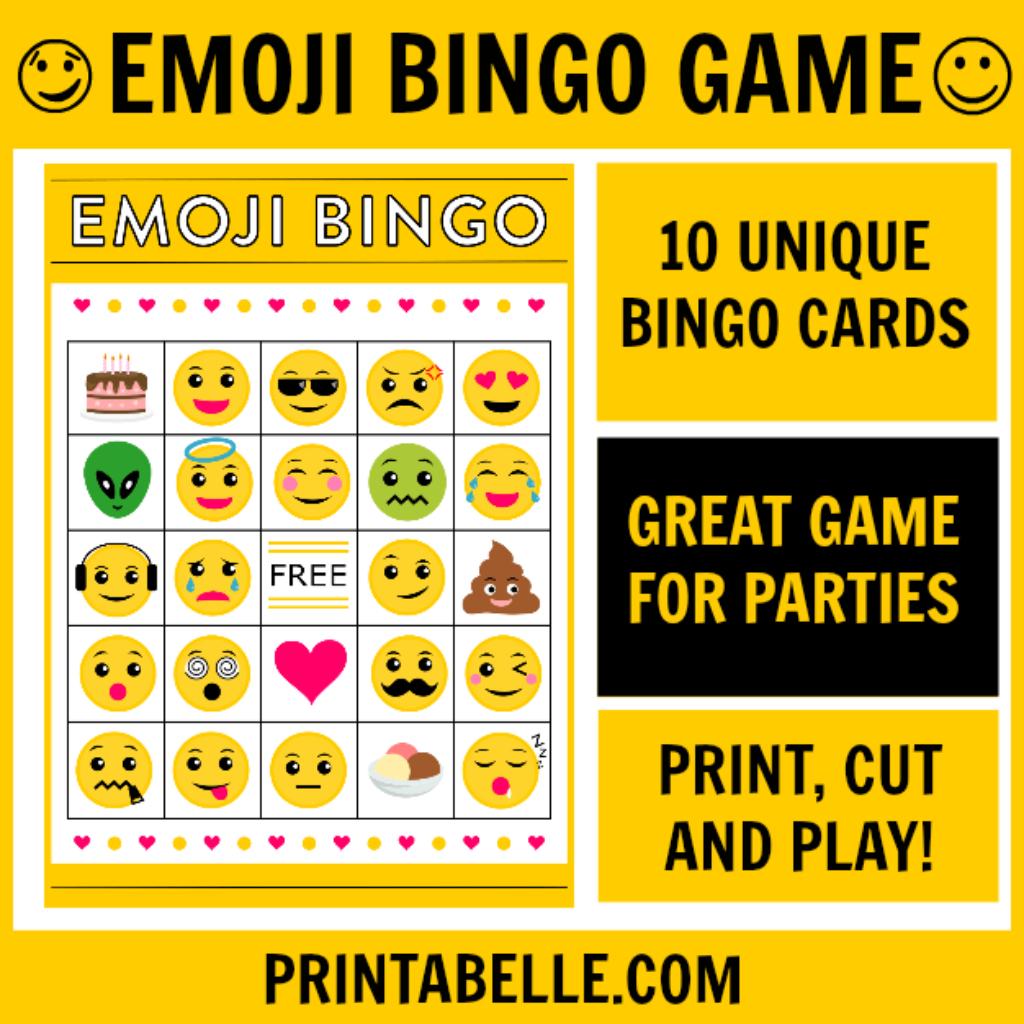 Emoji Bingo Printable Game | Kailey | Pinterest - Free Emoji Bingo Printable