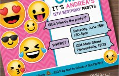 Emoji Invitations Printable Free