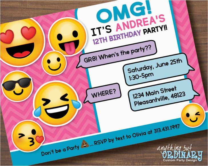 Emoji Invitations Printable Free