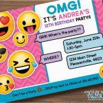 Emoji Birthday Card Template Emoji Invitations Printable Free   Free Printable Emoji B Day Invites