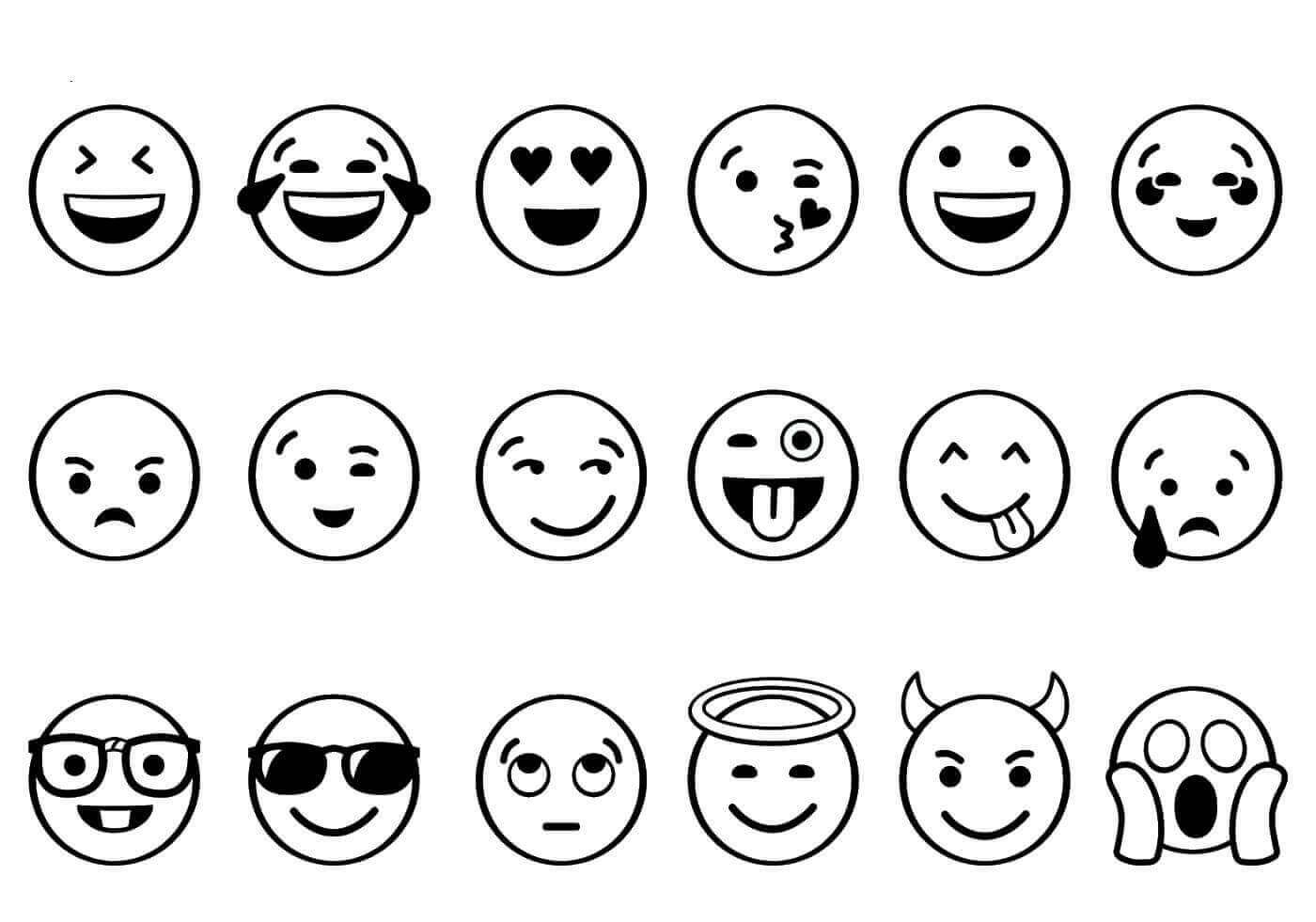 Emoji Coloring Pages Free Printable | Sped | Pinterest | Emoji - Free Printable Emoji Faces