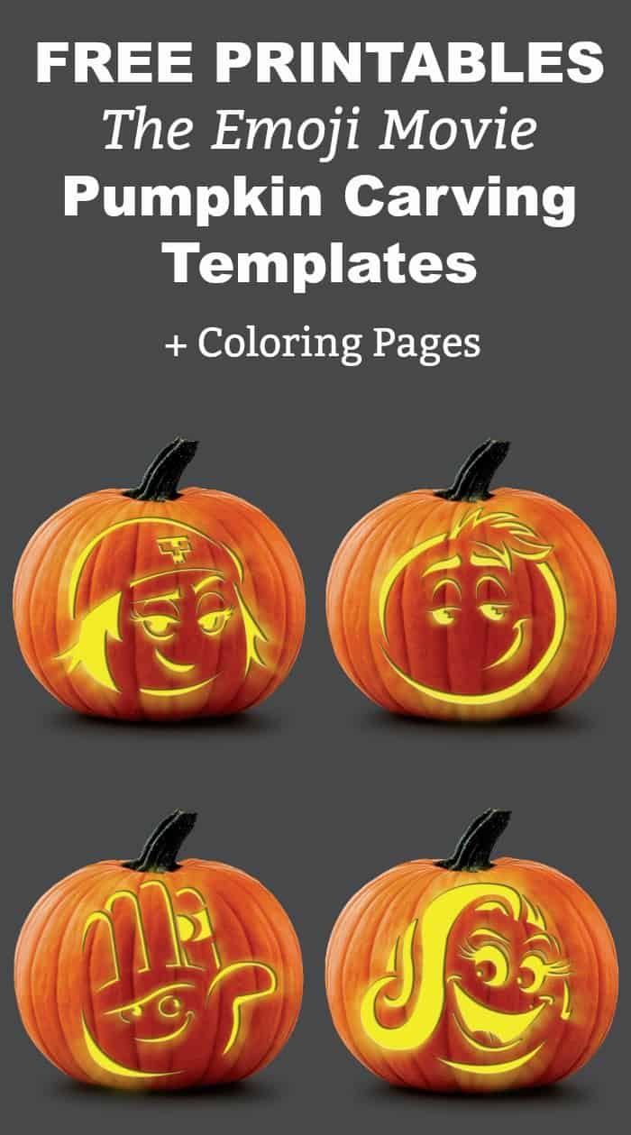 Emoji Movie Fun! Grab These Free Printable Coloring Pages & Pumpkin - Pumpkin Templates Free Printable