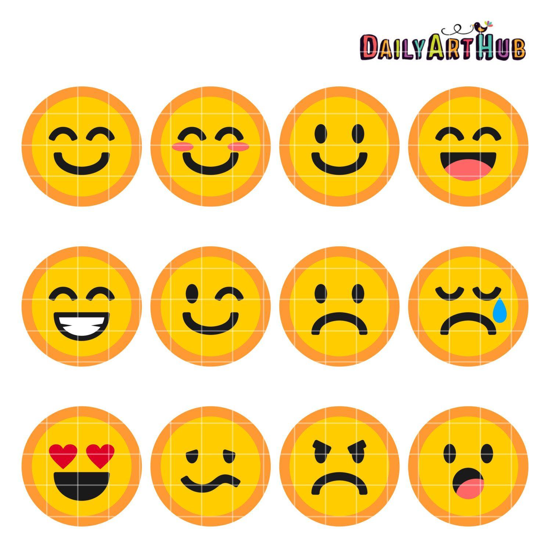Emoticons Collage Clip Art Emoticons Symbols Clipart Emoticons Text - Free Printable Emoji Faces