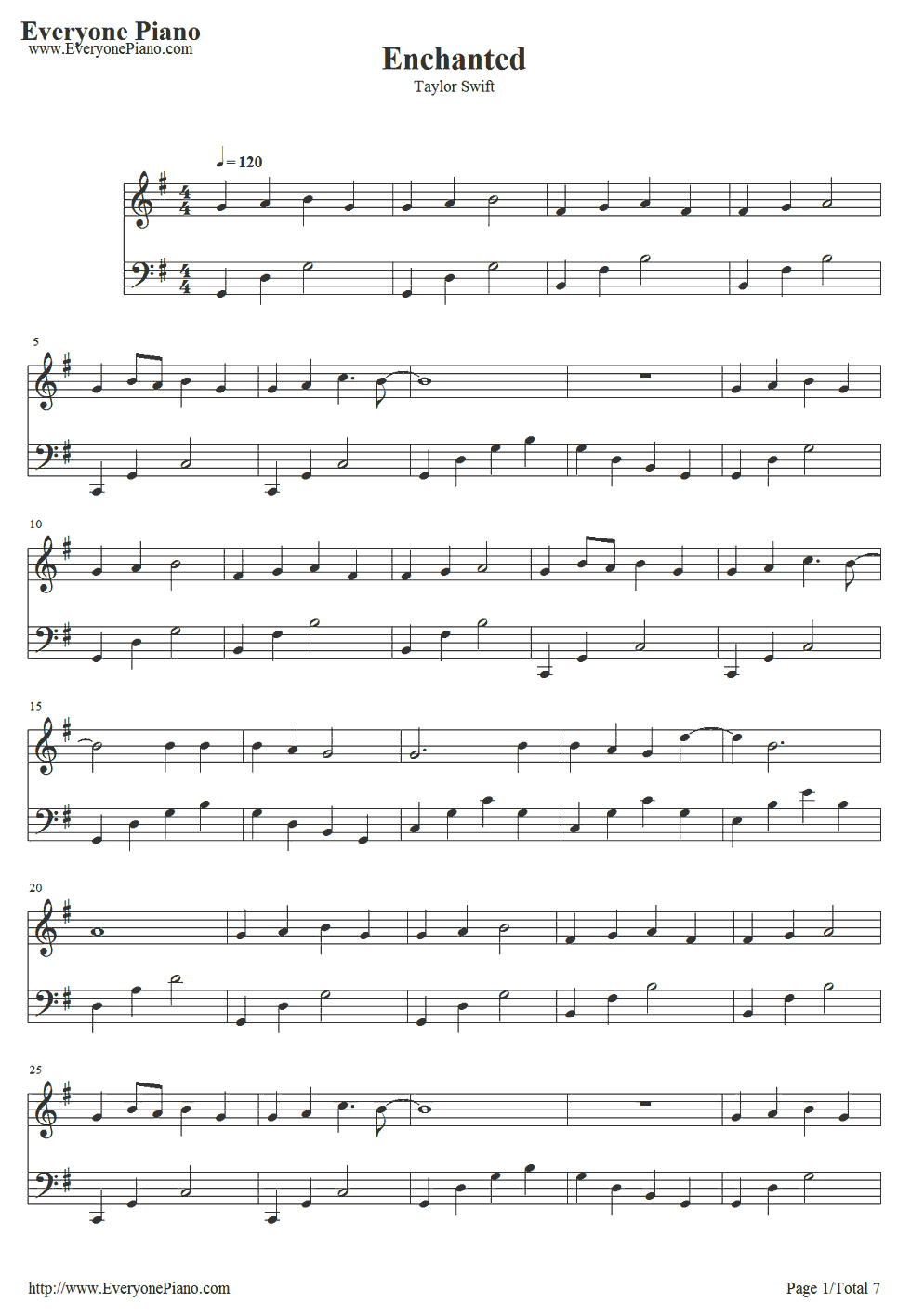 Enchanted-Taylor Swift Stave Preview 1 | Piano Pieces In 2019 - Taylor Swift Mine Piano Sheet Music Free Printable