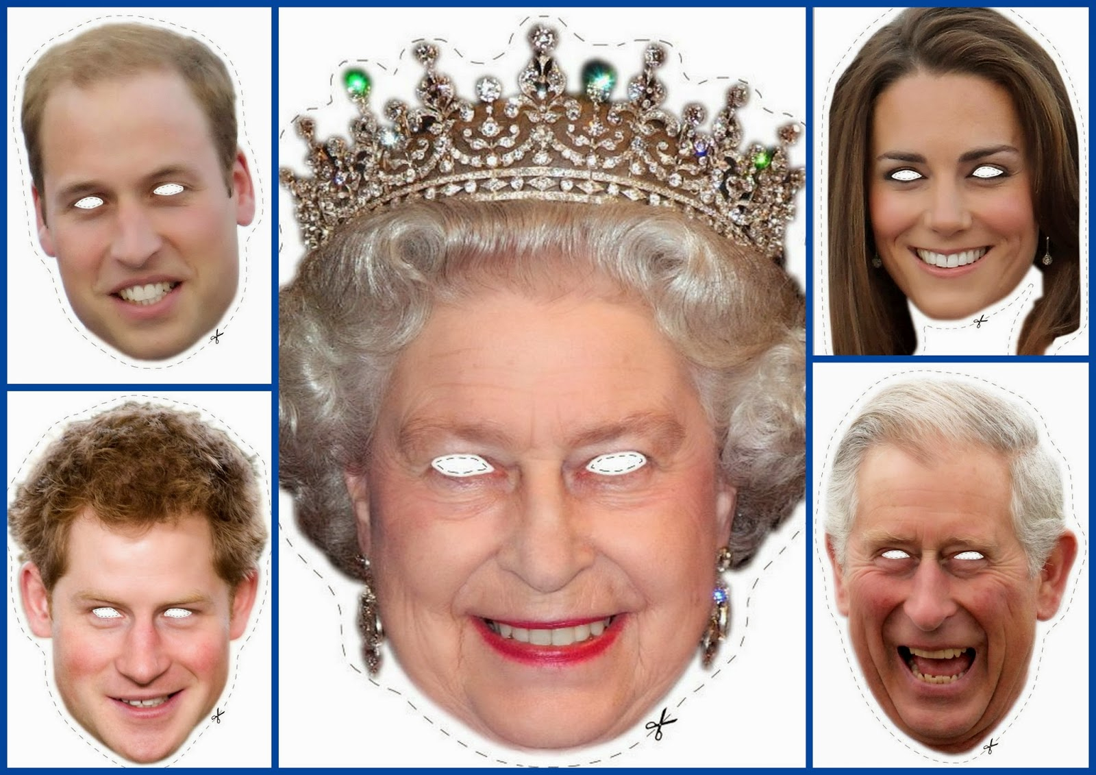 English Royal Family Free Printable Masks. | Oh My Fiesta! In English - Free Printable Face Masks