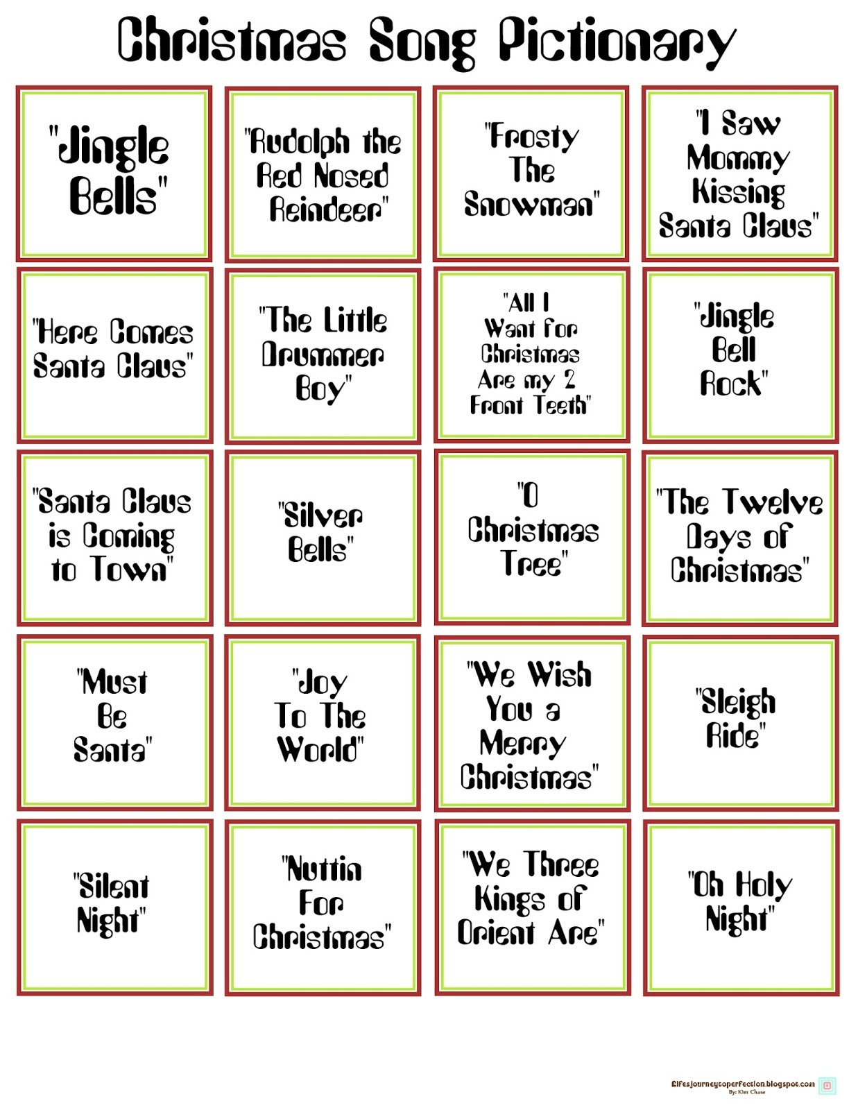 English Worksheet Christmas Pictionary Bw Version Included. List Of - Free Printable Christmas Pictionary Cards