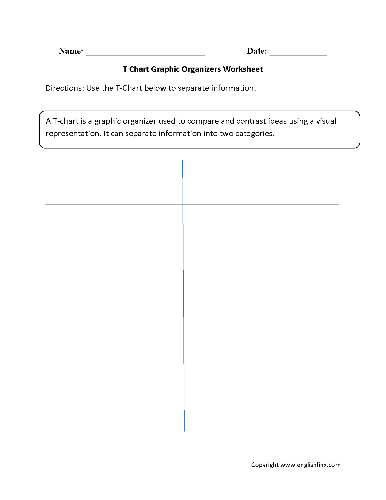 Englishlinx | Graphic Organizers Worksheets - Free Printable Compare And Contrast Graphic Organizer