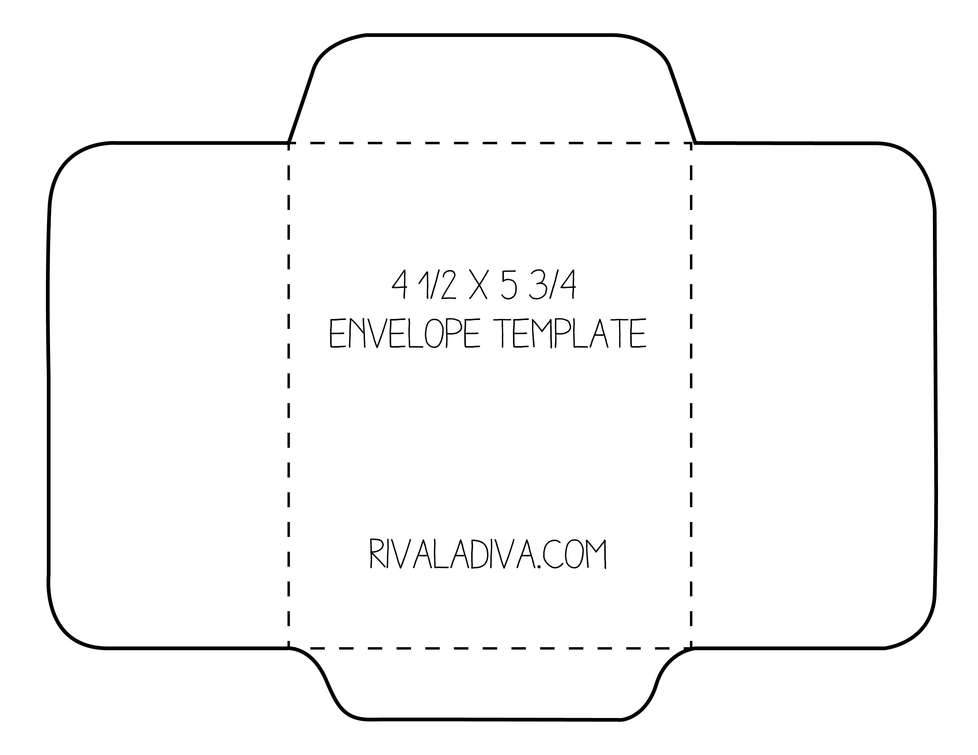Envelope Template | Envelope Template For 8.5 X 11 Paper Diy - Free Printable Greeting Card Envelope Template
