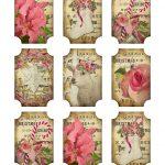 Ephemera's Vintage Garden: Free Printable: Rosy Christmas Gift Tags   Free Printable Vintage Christmas Tags For Gifts