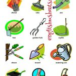 Esl Printable Gardening Tools Vocabulary Worksheets For Kids #esl   Free Printable Picture Dictionary For Kids