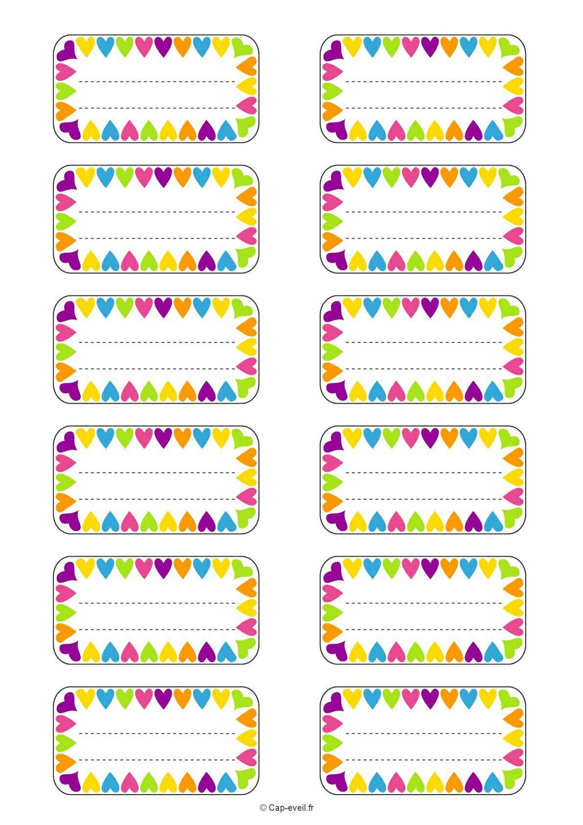 Etiquetas Escolares | Free Printable | Pinterest | School Labels - Free Printable Name Tags For Preschoolers