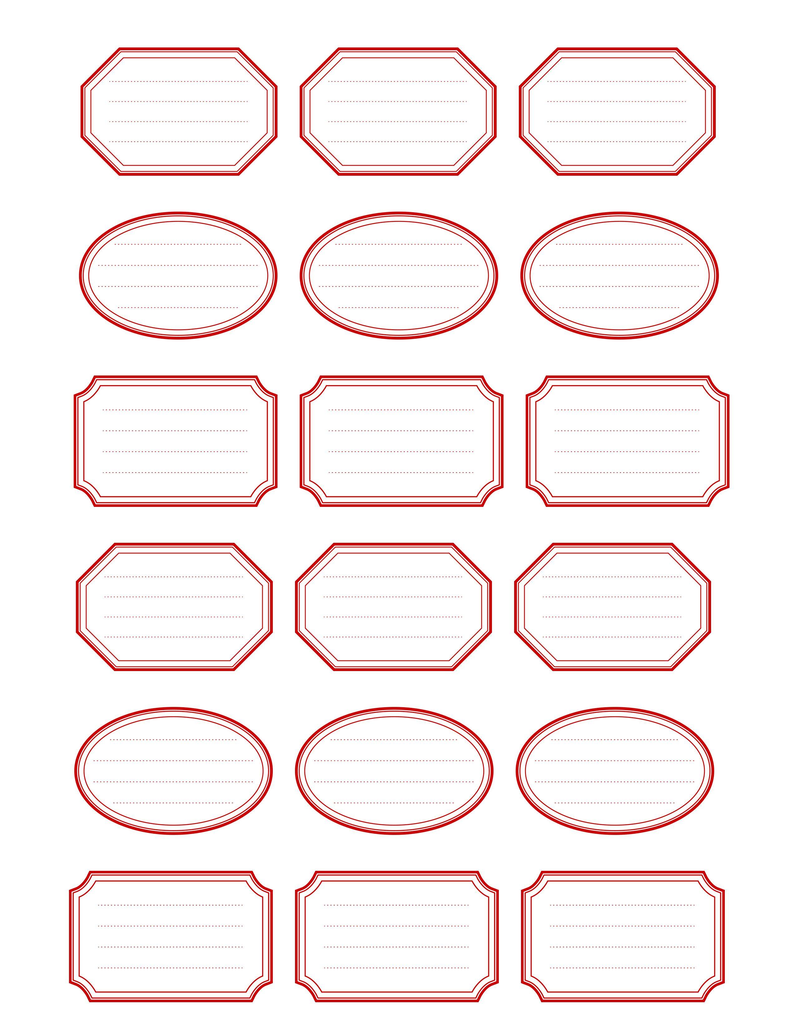 Etiquettes Imprimables | Free Printable Vintage Label Templates Free - Free Printable Label Templates
