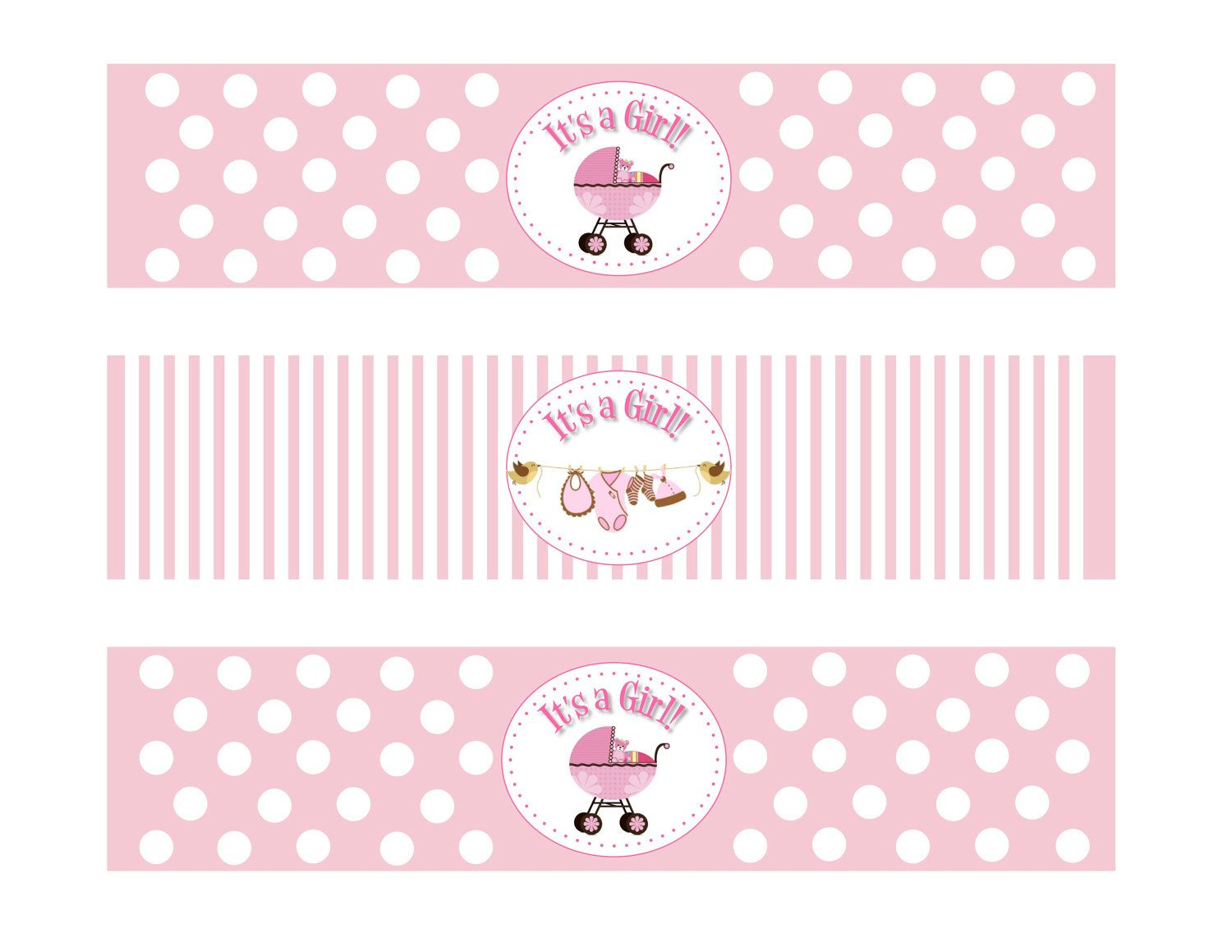 Etsyprintable Baby Shower Girl Theme Water Bottle - Free Printable Baby Shower Labels For Bottled Water