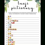 Eucalyptus Bridal Shower Emoji Pictionary Printable   Wedding Emoji Pictionary Free Printable