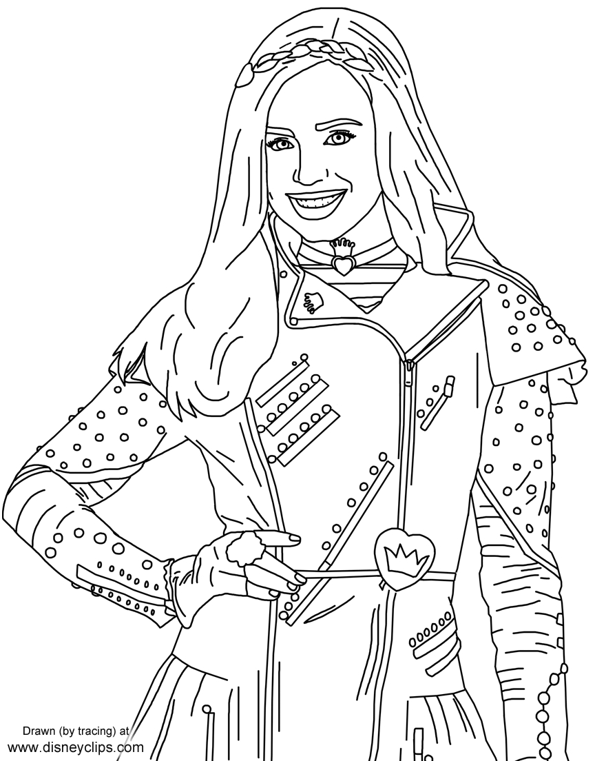 Evie From Disney's #descendants | Free Printables | Coloring Pages - Free Printable Descendants Coloring Pages