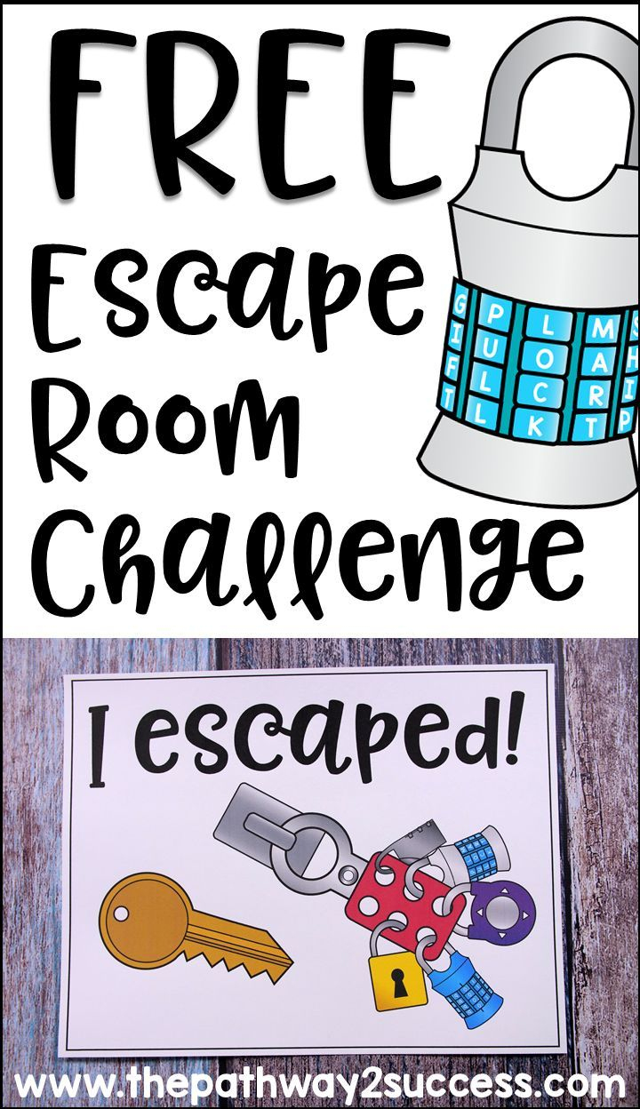 Executive Functioning Escape Room Activity | Cool Stuff From The - Printable Escape Room Free