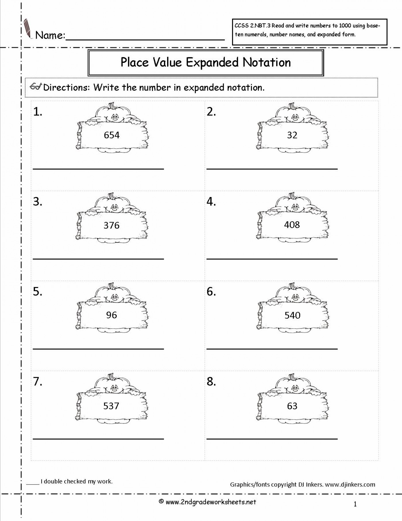 Expanded Form Of Math Worksheets For Grade Infinite Though - Free Printable Expanded Notation Worksheets