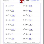 Exponents Worksheets   Free Printable Exponent Worksheets