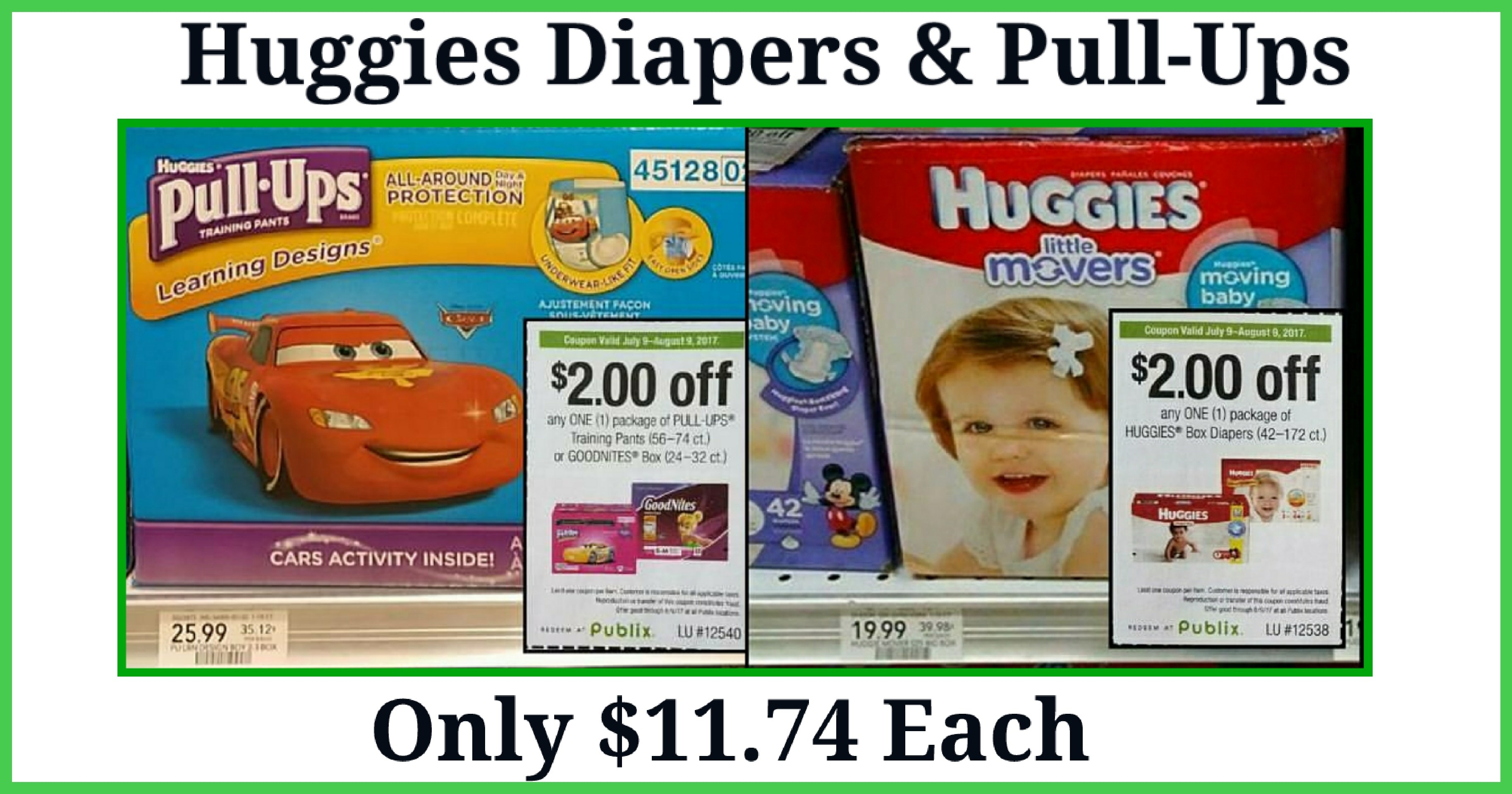 👶publix👶 Huggies Diapers & Pull-Ups Only $11.74 Each ~ 7/30-8/2 - Free Printable Coupons For Huggies Pull Ups
