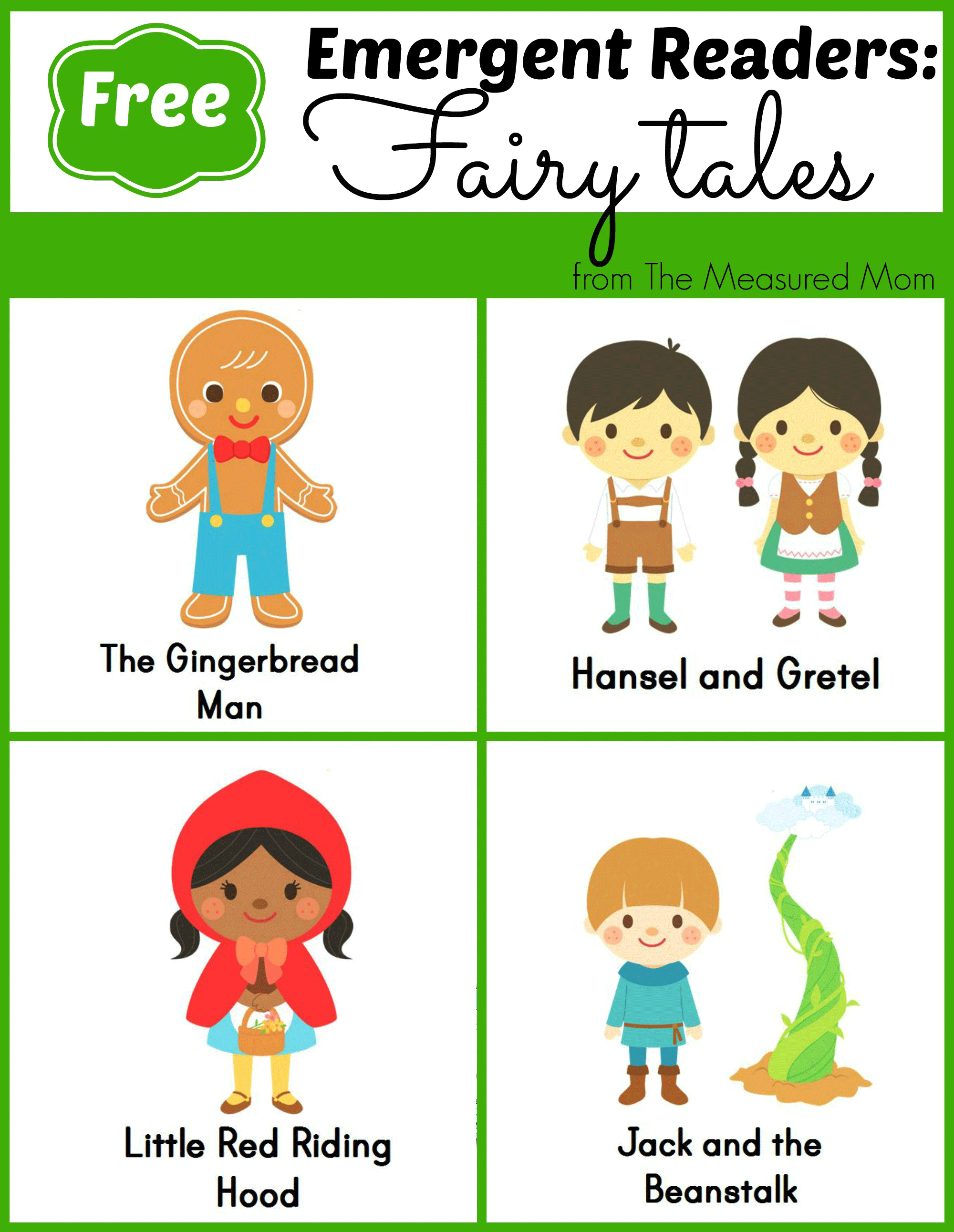 Fairy Tale Emergent Readers - The Measured Mom - Free Printable Leveled Readers For Kindergarten