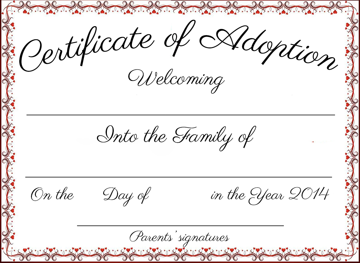 photograph about Free Printable Adoption Papers referred to as Wrong Adoption Papers. Peion For Adoption Of