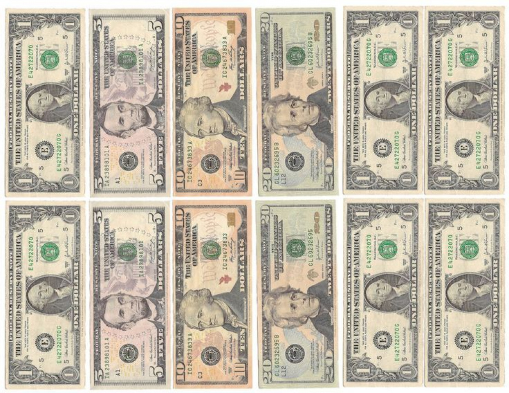Fake Money For Kids Printable Sheets | Play Money | Black And White - Free Printable Play Money Sheets